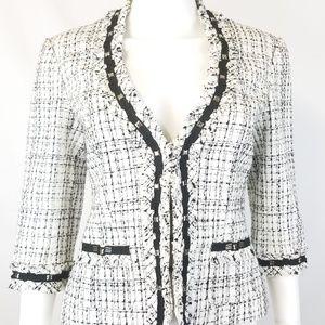 ●Sold●White House Black Market Tweed Stud Jacket